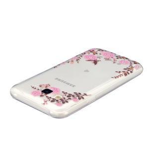 Trans gelový obal na mobil Samsung Galaxy J5 - květiny - 3