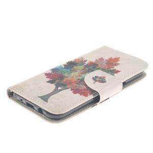 Standy peněženkové pouzdro na Samsung Galaxy J5 - barevný strom - 3