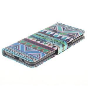 Style peněženkové pouzdro na Samsung Galaxy J5 (2016) - geo tvary - 3