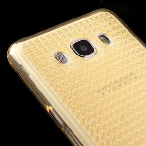 Diamonds gelový obal mobil na Samsung Galaxy J5 (2016) - zlatý - 3