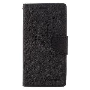 Diary PU kožené pouzdro na mobil Samsung Galaxy J5 (2016) - černé - 3