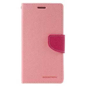 Diary PU kožené pouzdro na mobil Samsung Galaxy J5 (2016) - růžové - 3