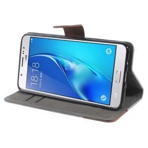 Denim peněženkové pouzdro na Samsung Galaxy J5 (2016) - šedé - 3