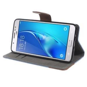 Denim peněženkové pouzdro na Samsung Galaxy J5 (2016) - světlemodré - 3
