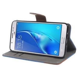 Denim peněženkové pouzdro na Samsung Galaxy J5 (2016) - modré - 3