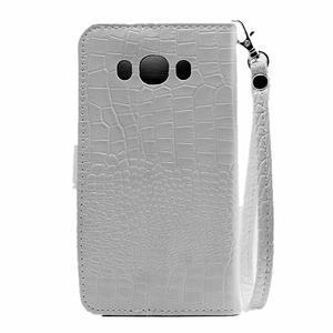 Croco peněženkové pouzdro na Samsung Galaxy J5 (2016) - bílé - 3