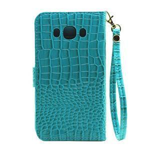 Croco peněženkové pouzdro na Samsung Galaxy J5 (2016) - modré - 3