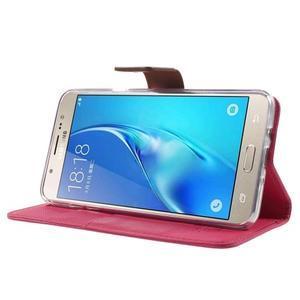 Gentle PU kožené peněženkové pouzdro na Samsung Galaxy J5 (2016) - rose - 3