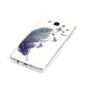 Průhledný obal na mobil Samsung Galaxy J5 (2016) - peříčko - 3