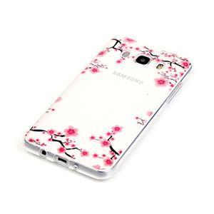 Průhledný obal na mobil Samsung Galaxy J5 (2016) - kvetoucí švestka - 3