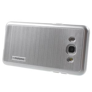 Gelový obal s plastovou výstuhou na Samsung Galaxy J5 (2016) - stříbrný - 3