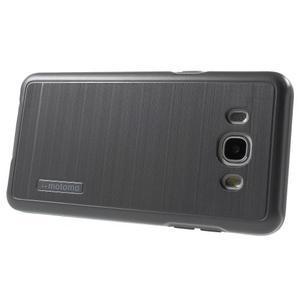 Gelový obal s plastovou výstuhou na Samsung Galaxy J5 (2016) - šedý - 3