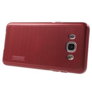 Gelový obal s plastovou výstuhou na Samsung Galaxy J5 (2016) - červený - 3