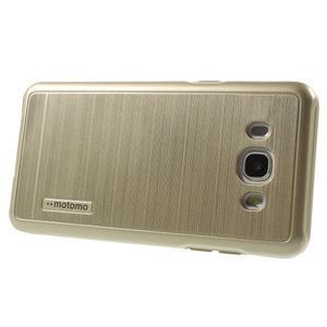 Gelový obal s plastovou výstuhou na Samsung Galaxy J5 (2016) - zlatý - 3