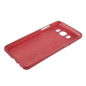 Brushed gelový obal na mobil Samsung Galaxy J5 (2016) - červený - 3