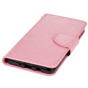 Wall PU kožené pouzdro na Samsung Galaxy J5 (2016) - růžové - 3