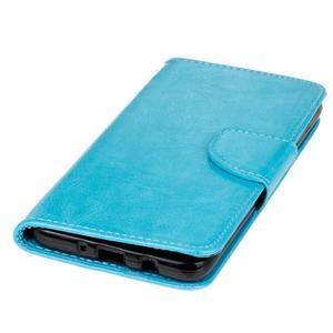 Wall PU kožené pouzdro na Samsung Galaxy J5 (2016) - modré - 3