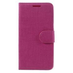 Cloth PU kožené pouzdro na Samsung Galaxy J5 (2016) - rose - 3