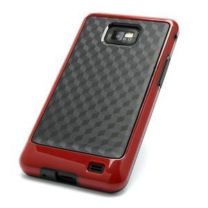 Cube odolný obal na mobil Samsung Galaxy S2 - červený - 3
