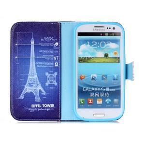 Emotive peněženkové pouzdro na Samsung Galaxy S3 - Eiffelova věž - 3