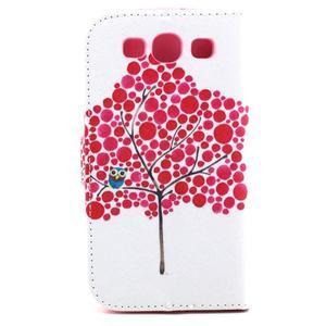 Knížkové pouzdro na mobil Samsung Galaxy S3 - strom soviček - 3