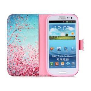 Emotive peněženkové pouzdro na Samsung Galaxy S3 - kvetoucí švestka - 3