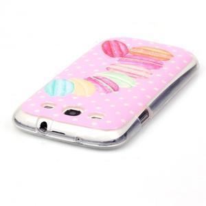 Gelový obal na mobil Samsung Galaxy S3 - makrónky - 3