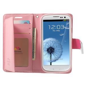 RichDiary PU kožené pouzdro na Samsung Galaxy S3 - rose - 3