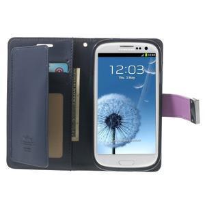 RichDiary PU kožené pouzdro na Samsung Galaxy S3 - fialové - 3