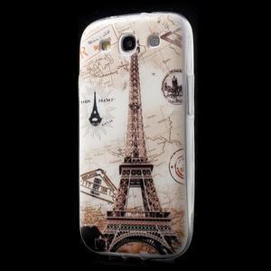 Ultratenký gelový obal na mobil Samsung Galaxy S3 - Eiffelova věž - 3