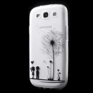 Ultratenký gelový obal na mobil Samsung Galaxy S3 - láska - 3