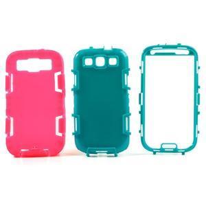 Odolné silikonové pouzdro na mobil Samsung Galaxy S3 - rose - 3