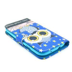 Pictu pouzdro na mobil Samsung Galaxy S3 - sova s vousem - 3