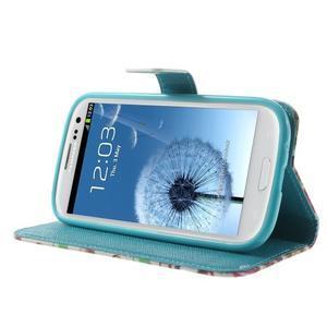 Knížečkové pouzdro na Samsung Galaxy S3 - autíčka - 3