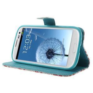 Knížečkové pouzdro na Samsung Galaxy S3 - tlapky - 3
