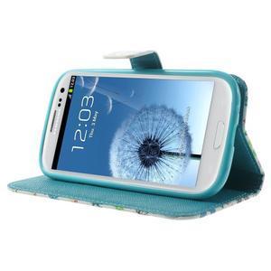 Knížečkové pouzdro na Samsung Galaxy S3 - motýlci - 3