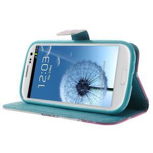 Knížečkové pouzdro na Samsung Galaxy S3 - kvetoucí větvička - 3
