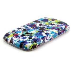 Gelový obal na mobil Samsung Galaxy S3 mini - barevné květiny - 3