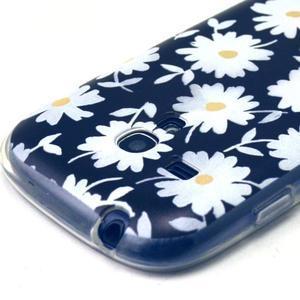Gloss gelový kryt na Samsung Galaxy S3 mini - sedmikrásky (černé pozadí) - 3