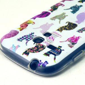 Gloss gelový kryt na Samsung Galaxy S3 mini - kočičky - 3