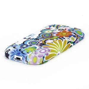 Emotive gelový obal na Samsung Galaxy S3 mini - barevné květiny - 3
