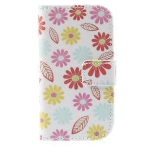 Knížkové pouzdro na mobil Samsung Galaxy S3 mini - květiny - 3