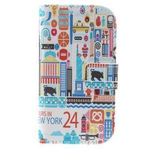 Knížkové pouzdro na mobil Samsung Galaxy S3 mini - New York - 3