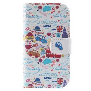 Knížkové pouzdro na mobil Samsung Galaxy S3 mini - Londýn - 3