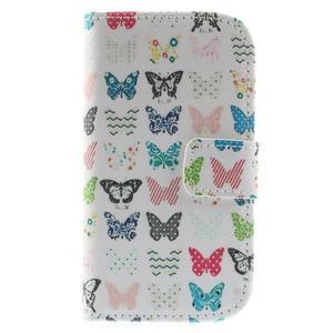 Knížkové pouzdro na mobil Samsung Galaxy S3 mini - motýlci - 3