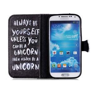 Emotive knížkové pouzdro na Samsung Galaxy S4 - unicorn - 3