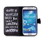 Emotive knížkové pouzdro na Samsung Galaxy S4 - unicorn - 3/6