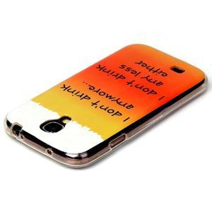 Softy gelový obal na mobil Samsung Galaxy S4 - drink - 3