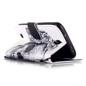 Knížkové koženkové pouzdro na Samsung Galaxy S4 - lebka - 3