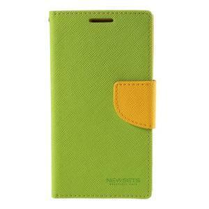 Sunny PU kožené pouzdro na mobil Samsung Galaxy S4 - zelené - 3